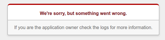 Screenshot of new Rails app error message