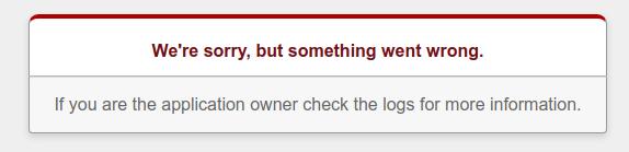 Captura de tela da mensagem de erro do novo aplicativo do Rails