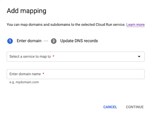 Add domain mapping