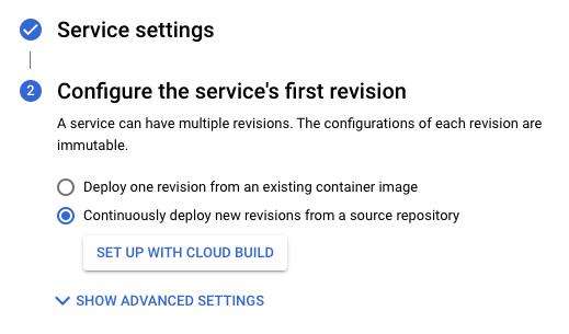 Set up with Cloud Build
