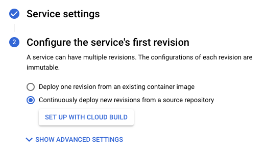 Cloud Build の設定