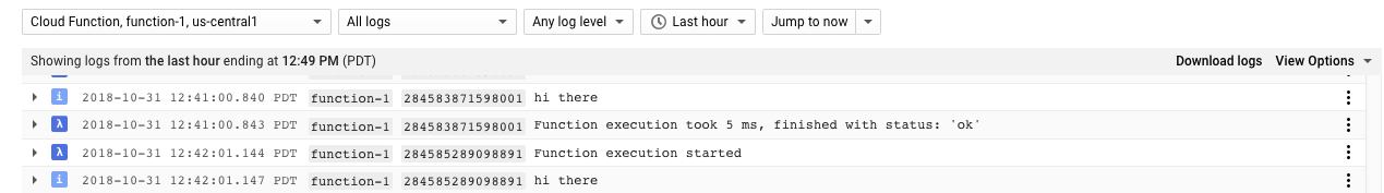Using Pub/Sub to trigger a Cloud Function | Cloud Scheduler