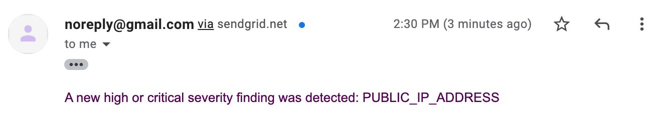 Notificação por e-mail