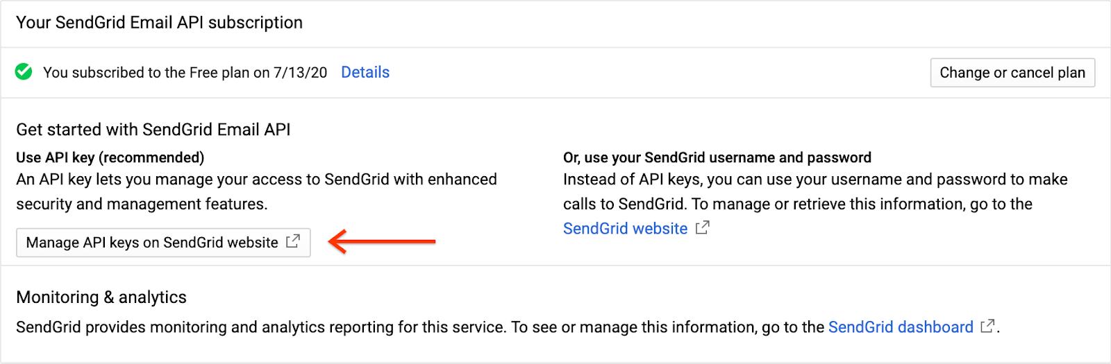 Gerenciar chaves de API
