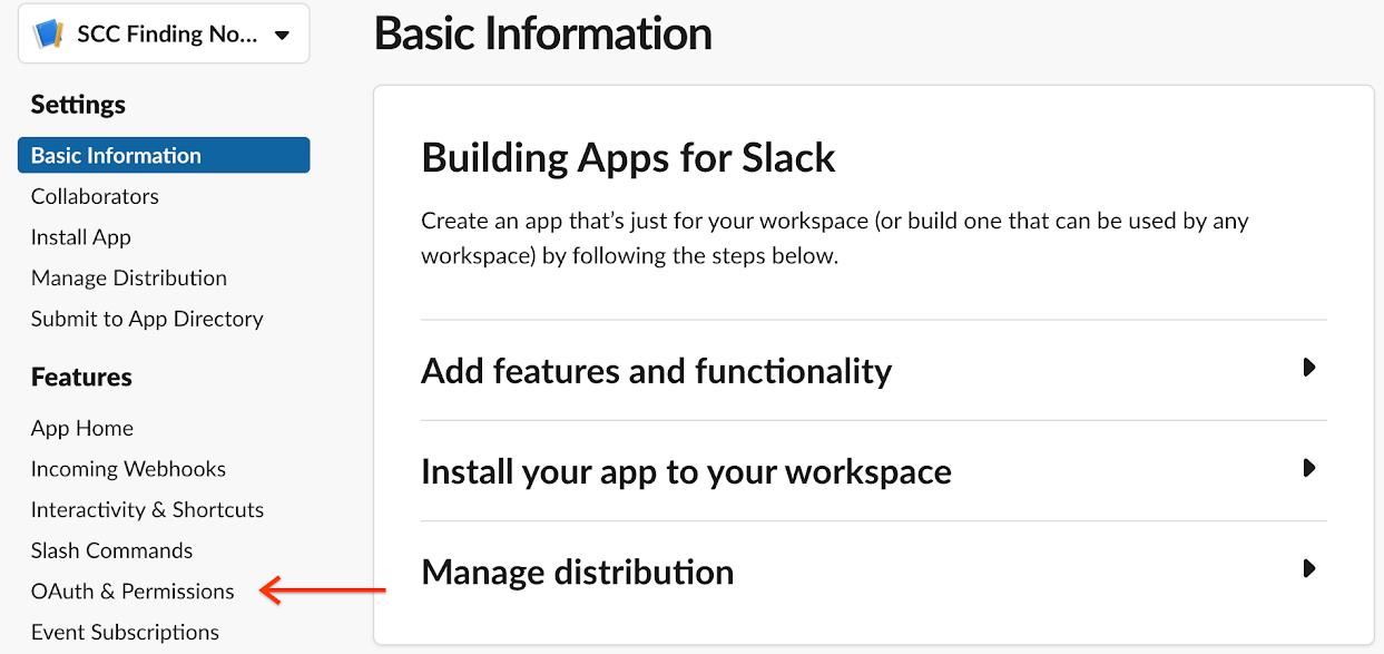 Slack permissions