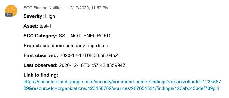 WebEx notification