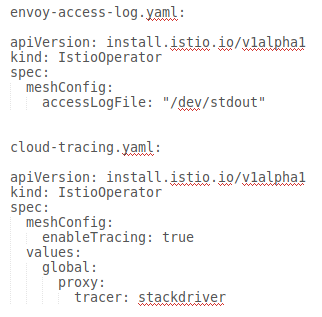 separate yaml files for each CR
