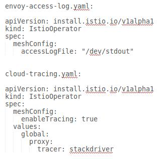 archivos yaml separados para cada CR