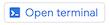 Symbol zum Öffnen des Terminals in der oberen Menüleiste von Cloud Shell