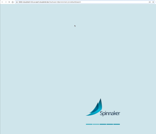 Spinnaker welcome screen.