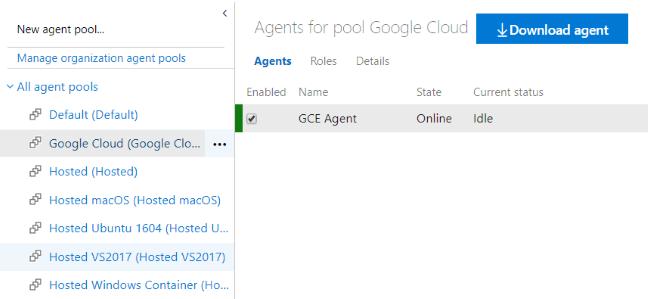 """Capture d'écran de la boîte de dialogue """"Files d'attente de l'agent"""" dans AzurePipelines"""