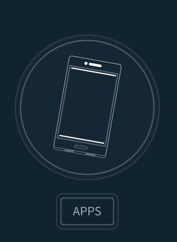 Ícone 'aplicativos' do Fabric