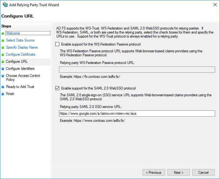 SAML 2.0 WebSSO プロトコルのサポートを有効にする