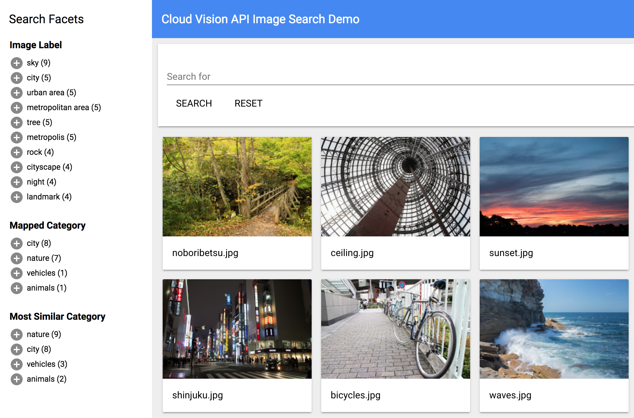 An Image Search Application That Uses The Cloud Cloud Vision And