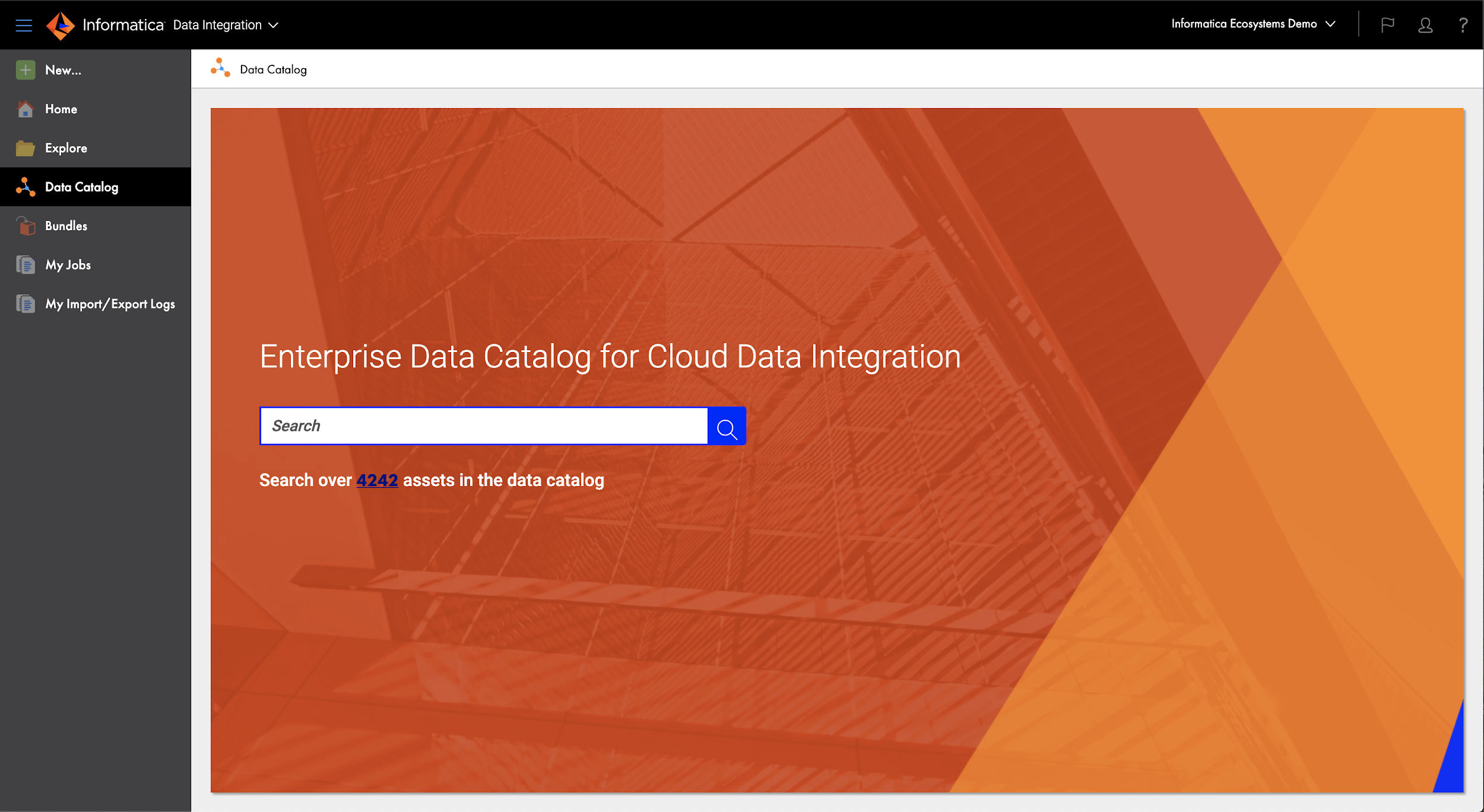 Data Catalog to configure the integration.