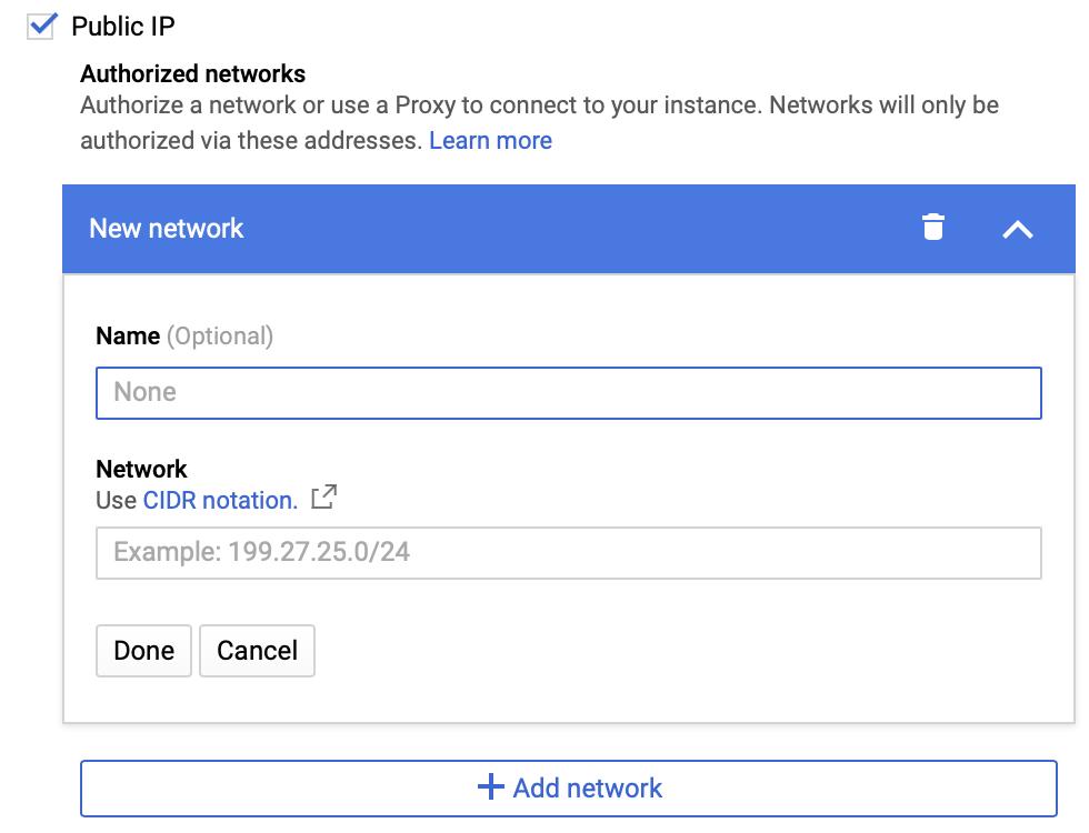 ネットワーク接続の設定。