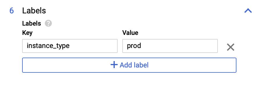 PostgreSQL インスタンスを分類する Key-Value ペアの定義。
