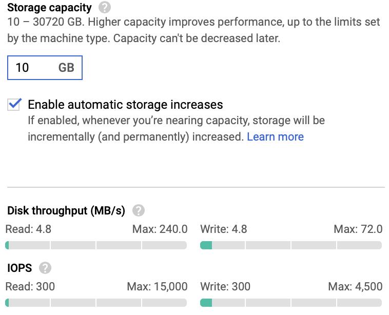 Speicherkapazität bei 10 GB