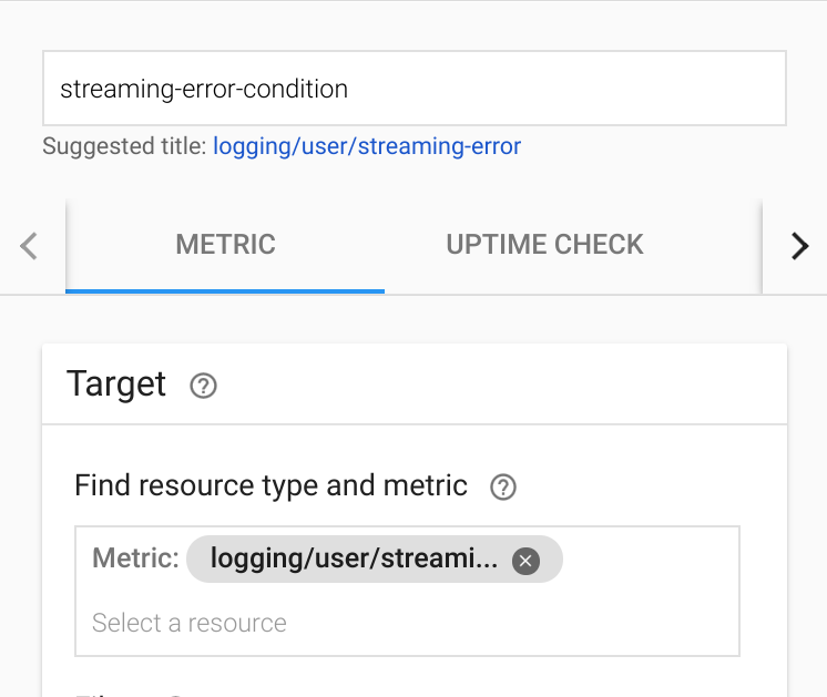 Add condition UI in Monitoring