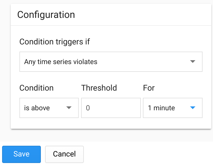 Condition triggers