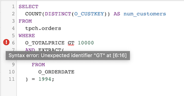"""Error """"unexpected identifier 'GT'""""."""
