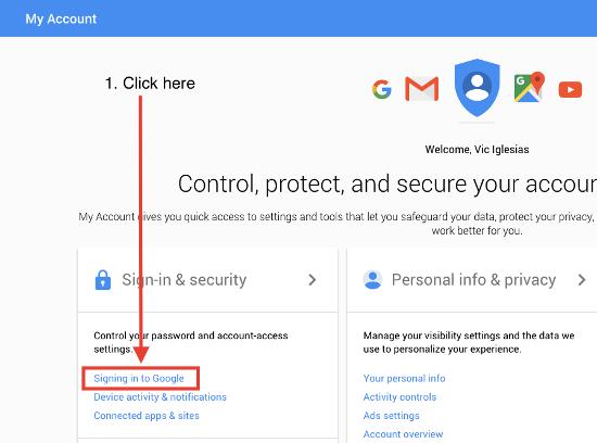 Accesso a Google