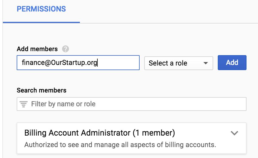 Billing Account Admin