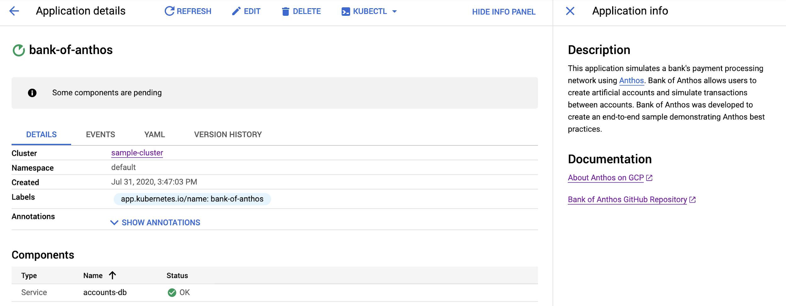 Os documentos na lista são formatados como hiperlinks.