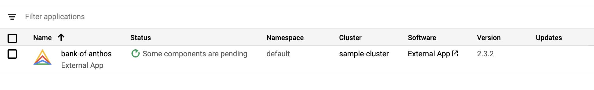 Neben dem Anwendungsnamen wird in der Liste der Anwendungen ein Logo angezeigt.