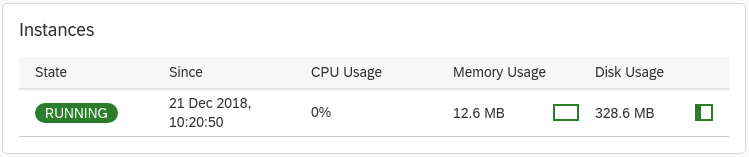 """A green """"RUNNING"""" indicator shows that the GCP Service Broker is running"""