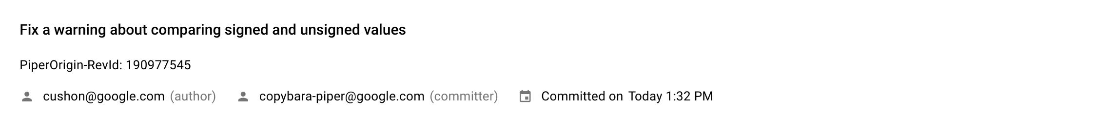 Commit Details Info Panel