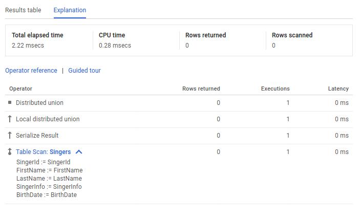 Captura de pantalla de la consola de Explicación (Explanation) en la IU