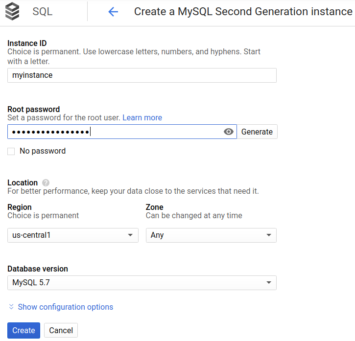 Quickstart for Cloud SQL for MySQL | Cloud SQL for MySQL | Google Cloud