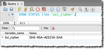Testing if connection is over SSL.