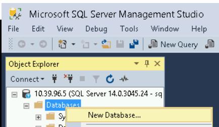 Selecting New Database