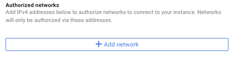Screenshot of the add network button.