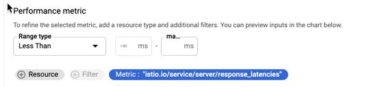 Establece un rango y un filtro para un indicador de corte de distribución.