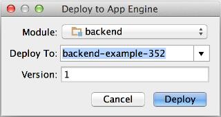 部署 App Engine