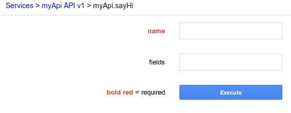 SayHi form