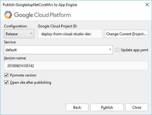 Implantação do App Engine