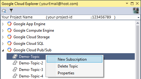 Image showing how to create a new subscription