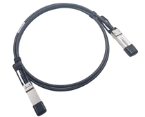 A photo depicting a QSFP+ Twinax copper network cable