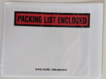 An example shipping label pouch