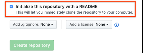 Initialize a GitHub repository with a README file