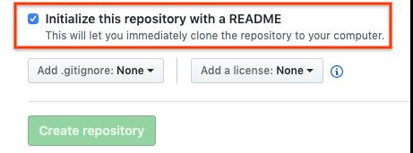 GitHub-Repository mit README-Datei initialisieren