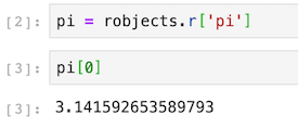Print the value of pi