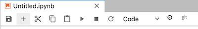 The Insert a cell below button