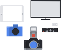 graphic of various types of consumer electronics