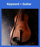 Gitarrenbild übereinstimmend mit Gitarrensuche