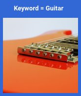 irrelevant image matched with guitar search